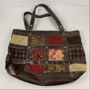 Relic Hand Bag Womens Purse Patchwork Multicolor